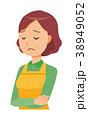 中年 主婦 エプロンのイラスト 38949052