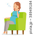 妊娠 妊婦 ベクターのイラスト 38949184