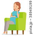 妊娠 妊婦 ベクターのイラスト 38949199