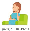 妊娠 妊婦 ベクターのイラスト 38949251