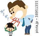 イラスト素材 暴力教師(言葉の暴力) 38951355
