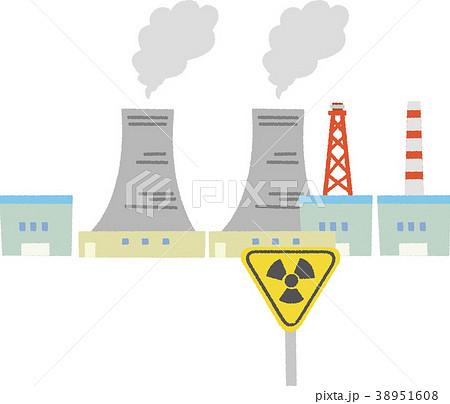 イラスト素材 原子力発電のイラスト素材 38951608 Pixta