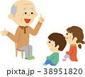 イラスト素材 老人と子供の対話 38951820