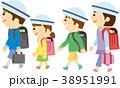 人物 小学生 登校のイラスト 38951991