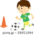 人物 子供 サッカーのイラスト 38951994