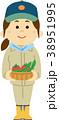 人物 女性 農作物のイラスト 38951995