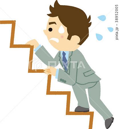 イラスト素材 人生の階段を上る...