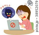 人物 パソコン ハッキングのイラスト 38952079