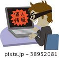 男性 インターネット ハッカーのイラスト 38952081