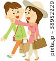 人物 女性 旅行のイラスト 38952229