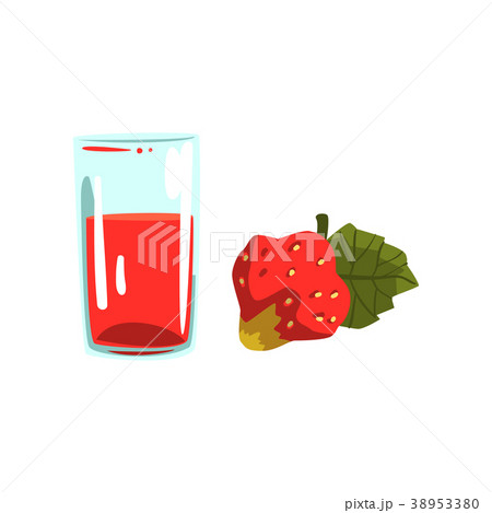 Strawberry juice, glass of natural vegetarian 38953380
