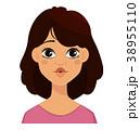 表情 顔 面のイラスト 38955110