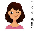表情 表現 顔のイラスト 38955114