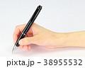 ボールペン 握る 手の写真 38955532