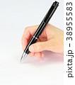 ボールペン 握る 手の写真 38955583