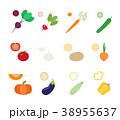 きゅうり キュウリ 胡瓜のイラスト 38955637