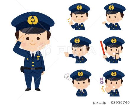 男性警察官_バリエーション 38956740