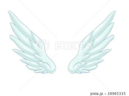 翼のイラスト 羽 羽根 翼 鳥 天使のイラスト素材 38965335 Pixta