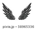 翼のイラスト 羽 羽根 翼 鳥 天使 38965336