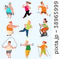 エクササイズ 運動 トレーニングのイラスト 38965999
