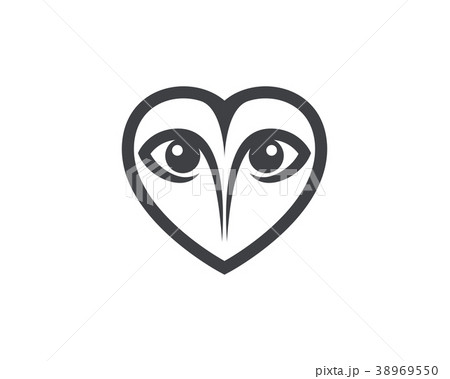 owl bird illustration logo templateのイラスト素材 38969550 pixta