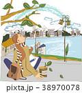 イラスト 旅行 女性のイラスト 38970078