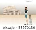 イラスト 旅行 女性のイラスト 38970130