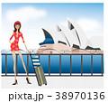 イラスト 旅行 女性のイラスト 38970136