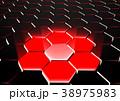 6角形 抽象的 バックグラウンドのイラスト 38975983