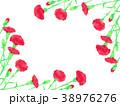 カーネーション 花 フレームのイラスト 38976276