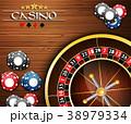 カジノ カジノの ルーレットのイラスト 38979334