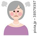 シニア 女性 表情 怒り 38979397