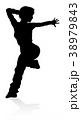 ダンス 舞う 舞踊のイラスト 38979843