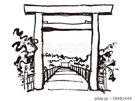 伊勢神宮 水彩画 38982444