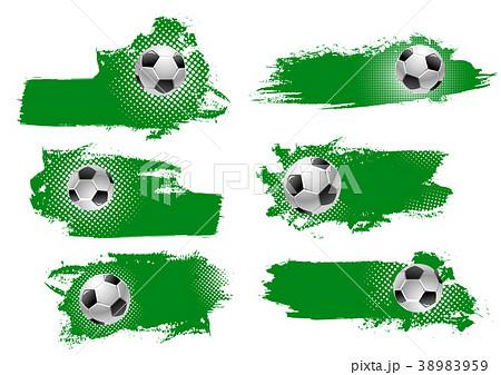 Vector soccer or football ball green backdrops 38983959