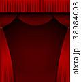 暗幕 カーテン 舞台のイラスト 38984003