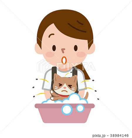 ネコ ノミ 洗う 38984146