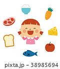 食べ物と女の子 38985694
