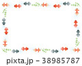 フレーム ベクター 金魚のイラスト 38985787