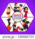 Dance Studio Template in Cartoon Style 38988735