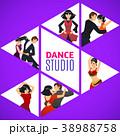 Dance Studio Template in Cartoon Style 38988758