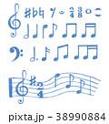 ミュージック 譜面 音楽のイラスト 38990884
