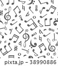 音楽 パターン 柄のイラスト 38990886