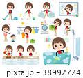 Store staff red uniform women_Housekeeping 38992724