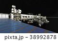 人工衛星 宇宙 大気圏のイラスト 38992878