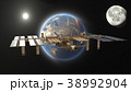 人工衛星 宇宙 惑星のイラスト 38992904
