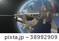 人工衛星 宇宙 惑星のイラスト 38992909