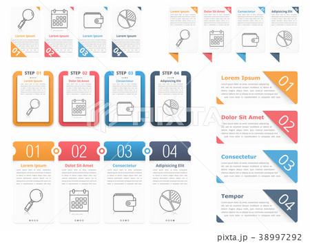 infographic elements with numbersのイラスト素材 38997292 pixta