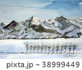 八海山  越後三山. 雪景色 38999449