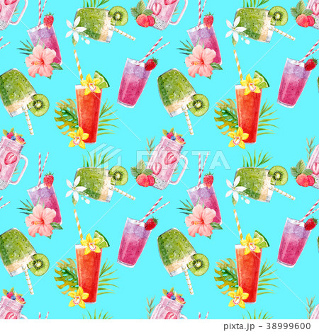 Watercolor smoothie pattern 38999600
